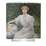 Portrait Of Marguerite Durand Shower Curtain by Jules Cayron