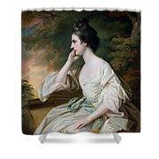 Portrait of Miss Anne Dutton Shower Curtain by Francis Cotes