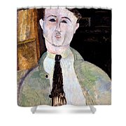 Portrait Of Paul Guillaume Shower Curtain by Amedeo Modigliani