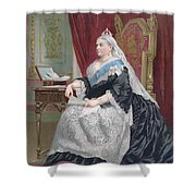 Portrait Of Queen Victoria Shower Curtain by English School