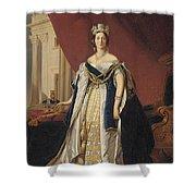 Portrait Of Queen Victoria In Coronation Robes Shower Curtain by Franz Xaver Winterhalter