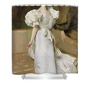 Portrait Of The Countess Of Clary Aldringen Shower Curtain by John Singer Sargent