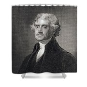 Portrait Of Thomas Jefferson Shower Curtain by Henry Bryan Hall