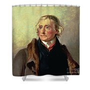 Portrait Of Thomas Jefferson Shower Curtain by Thomas Sully