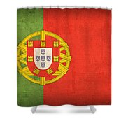 Portugal Flag Vintage Distressed Finish Shower Curtain by Design Turnpike