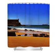 Portuguese Coast Shower Curtain by Marco Oliveira