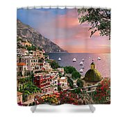 Positano Shower Curtain by Dominic Davison