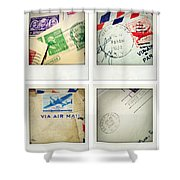 Postal Still Life Shower Curtain by Les Cunliffe