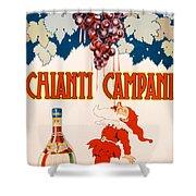 Poster Advertising Chianti Campani Shower Curtain by Necchi