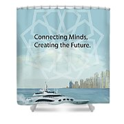 Poster Dubai Expo - 2 Shower Curtain by Corporate Art Task Force