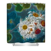 Pot Of Daisies 02 - S11bl01 Shower Curtain by Variance Collections