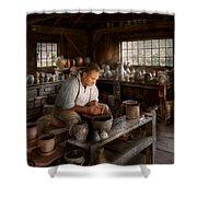 Potter - Raised In The Clay Shower Curtain by Mike Savad