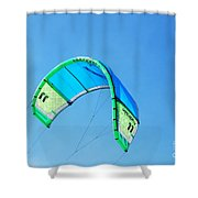 Power Kite Shower Curtain by DejaVu Designs
