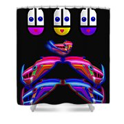 Power Play Shower Curtain by Charles Stuart