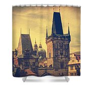 Praha Shower Curtain by Taylan Soyturk