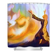 Praise Him Shower Curtain by Susanna  Katherine