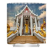Pranburi Temple Shower Curtain by Adrian Evans