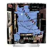 Prayer Flags Shower Curtain by Cynthia Decker