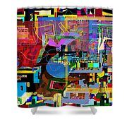 precious is man for he is created in the Divine Image 10 Shower Curtain by David Baruch Wolk