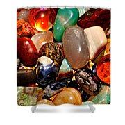 Precious Stones Shower Curtain by Frozen in Time Fine Art Photography