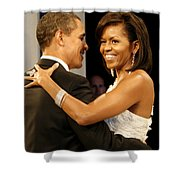President And Michelle Obama Shower Curtain by Official Government Photograph