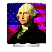 President George Washington V2 M123 Shower Curtain by Wingsdomain Art and Photography