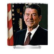 President Ronald Reagan Shower Curtain by Mountain Dreams