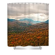 Presidential Range In Autumn Watercolor Shower Curtain by Brenda Jacobs