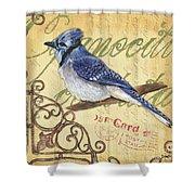 Pretty Bird 4 Shower Curtain by Debbie DeWitt