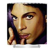 Prince Artwork Shower Curtain by Sheraz A