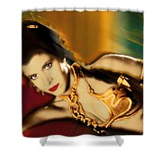 Princess Leia Star Wars Episode VI Return of the Jedi 1 Shower Curtain by Tony Rubino
