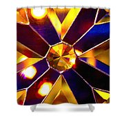Prism Glass Spectrum Shower Curtain by Karon Melillo DeVega