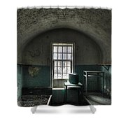 Prison Cell Shower Curtain by Jane Linders