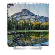 Pristine Alpine Lake Shower Curtain by Robert Bales