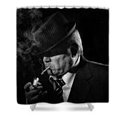 Private Eye Shower Curtain by Jeff Burton
