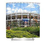 Progressive Field Shower Curtain by Frozen in Time Fine Art Photography