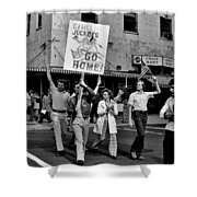 Protesting Iran Shower Curtain by Benjamin Yeager