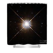 Proxima Centauri Shower Curtain by Science Source