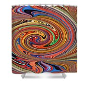 Psychedelic Shower Curtain by Kristin Elmquist