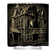 Psycho Mansion Shower Curtain by John Malone
