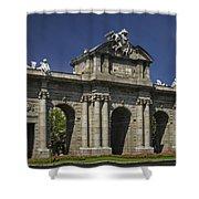 Puerta De Alcala Madrid Spain Shower Curtain by Susan Candelario