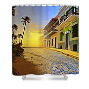 Puerto Rico Collage 2 Shower Curtain by Stephen Anderson