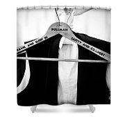 Pullman Tuxedo Shower Curtain by Edward Fielding