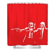 Pulp Wars Shower Curtain by Patrick Charbonneau