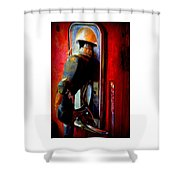 Pump Up The Vintage Shower Curtain by Karen Wiles