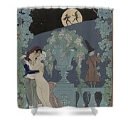Puppets Shower Curtain by Georges Barbier
