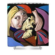 Puppy Love Shower Curtain by Anthony Falbo