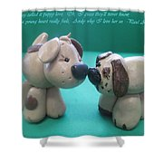 Puppy Love Shower Curtain by Barbara Snyder