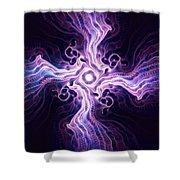 Purple Cross Shower Curtain by Anastasiya Malakhova