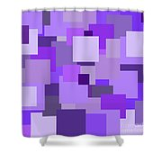 Purple Extravaganza Shower Curtain by Mariola Bitner